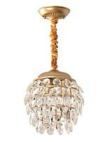 abordables -Mini Lampe suspendue Lumière d'ambiance - Cristal, 110-120V / 220-240V Ampoule non incluse