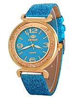 cheap -Women's Dress Watch Wrist Watch Quartz New Design Casual Watch Imitation Diamond PU Band Analog Casual Fashion Black / White / Blue - Blue Pink Light Blue One Year Battery Life