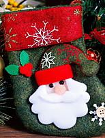 Недорогие -Рождественские чулки Новогодняя тематика Ткань Квадратный Оригинальные Рождественские украшения