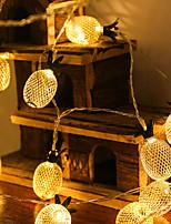 baratos -1.5m Cordões de Luzes 10 LEDs 1Setar o suporte de montagem Branco Quente Fofo / Criativo / Novo Design Baterias AA alimentadas 1conjunto