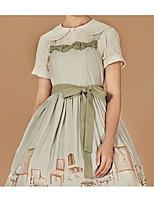 economico -Dolce Cintura Per femmina Gonna pullover Cosplay Verde / Rosa Senza maniche Manica corta Costumi Halloween