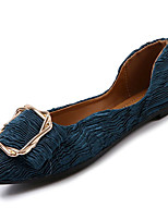 Недорогие -Жен. Комфортная обувь Полиуретан Осень На плокой подошве На плоской подошве Заостренный носок Белый / Черный / Зеленый