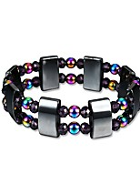 cheap -Men's Obsidian Beads Strand Bracelet / Hologram Bracelet - Creative Trendy, Fashion Bracelet Rainbow For Gift / Daily