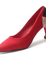 Недорогие -Жен. Балетки Полиуретан Осень Обувь на каблуках На шпильке Заостренный носок Черный / Красный / Для вечеринки / ужина / Для вечеринки / ужина