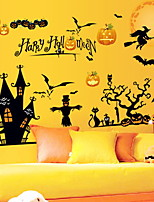 Недорогие -Оконная пленка и наклейки Украшение Хэллоуин Праздник ПВХ Cool