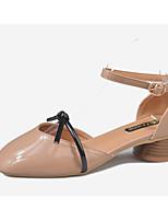 abordables -Femme Chaussures de confort Polyuréthane Eté Chaussures à Talons Talon Bottier Beige / Chair