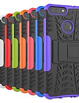 Недорогие -Кейс для Назначение Huawei P20 Pro / P20 lite Защита от удара / со стендом Кейс на заднюю панель Плитка / броня Твердый ПК для Huawei P20 / Huawei P20 Pro / Huawei P20 lite / P10 Plus / P10 Lite