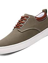 Недорогие -Муж. Комфортная обувь Полотно Осень На каждый день Кеды Высота возрастающей Серый / Военно-зеленный / Синий