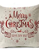 Недорогие -Наволочки Новогодняя тематика / Праздник Полиэстер Прямоугольный Оригинальные Рождественские украшения