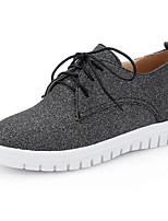 baratos -Mulheres Sapatos Confortáveis Couro Ecológico Primavera Rasos Salto Baixo Preto / Prata / Azul