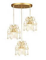 abordables -3 lumières Cristal Lampe suspendue Lumière d'ambiance - Cristal, 110-120V / 220-240V Ampoule non incluse