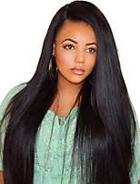 Недорогие -Натуральные волосы Полностью ленточные Парик Бразильские волосы Бирманские волосы Прямой Парик 130% Плотность волос Женский Легко туалетный Лучшее качество Нейтральный Жен. Длинные