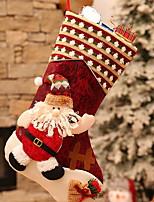 baratos -Meias de Natal Natal Tecido Quadrada Novidades Decoração de Natal