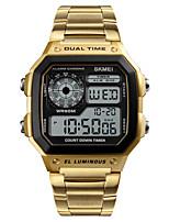 cheap -SKMEI Smartwatch Digital Modern Style Sporty 30 m Water Resistant / Waterproof Calendar / date / day Casual Watch Digital Casual Fashion - Black Rose Gold Gold