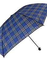 Недорогие -Полиэстер Все Солнечный и дождливой Складные зонты