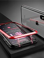 Недорогие -Кейс для Назначение Apple iPhone XR / iPhone XS Max Прозрачный / Магнитный Чехол Однотонный Твердый Закаленное стекло для iPhone XS / iPhone XR / iPhone XS Max