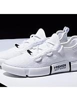 Недорогие -Муж. Комфортная обувь Сетка Лето Кеды Белый / Черный