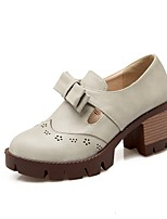 abordables -Femme Chaussures de confort Polyuréthane Printemps été Chaussures à Talons Talon Bottier Noir / Beige / Gris