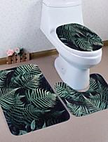 Недорогие -3 предмета Modern Коврики для ванны 100 г / м2 полиэфирный стреч-трикотаж Цветочный принт нерегулярный Ванная комната Новый дизайн