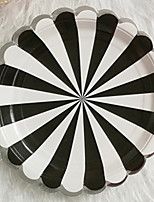 abordables -8pcs Papier Créatif / Cool Assiettes, Vaisselle