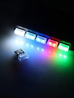 Недорогие -BRELONG® 1шт LED Night Light USB Подсветка для авто / Простота транспортировки / С портом USB 5 V