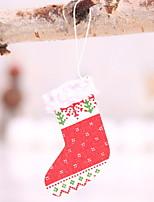 baratos -Meias de Natal Natal De madeira Quadrada Novidades Decoração de Natal