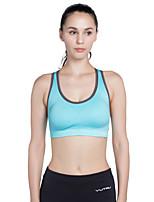 abordables -Sans Couture Soutien-Gorges de Sport Rembourré Soutien Moyen Pour Yoga / Course / Running - Rouge de Rose / Bleu Ciel Séchage rapide Femme Polyester, Spandex