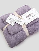 Недорогие -Высшее качество Набор банных полотенец, Геометрический принт Чистый хлопок Ванная комната 2 pcs