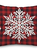 baratos -Fronha Natal / Férias Tecido de Algodão Rectângular Festa Decoração de Natal