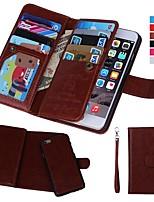 Недорогие -Кейс для Назначение Apple iPhone XR / iPhone XS Max Кошелек / Бумажник для карт / Защита от удара Чехол Однотонный Твердый Настоящая кожа для iPhone XS / iPhone XR / iPhone XS Max