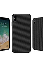 baratos -Capinha Para Apple iPhone XS / iPhone XS Max Antichoque / Estampada Capa traseira Linhas / Ondas Rígida Fibra de carbono para iPhone XS / iPhone XR / iPhone XS Max