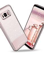 Недорогие -Кейс для Назначение SSamsung Galaxy S8 Plus / S8 Покрытие / Ультратонкий / Сияние и блеск Кейс на заднюю панель Однотонный Мягкий ТПУ / ПК для S8 Plus / S8