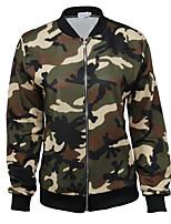 cheap -women's cotton jacket - camouflage