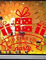 Недорогие -Оконная пленка и наклейки Украшение Рождество Праздник ПВХ Стикер на окна / Магазин / Кафе