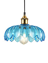 cheap -Northern Europe Modern Glass Pendant Light Vintage Creative Lotus Shape Glass Living Room Dining Room Hallway Cafe Pendant Lamp