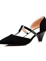 baratos -Mulheres Sapatos Confortáveis Camurça Primavera Saltos Salto Agulha Preto / Vermelho / Casamento