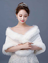 cheap -Sleeveless Faux Fur Wedding / Party / Evening Women's Wrap With Fringe Shawls
