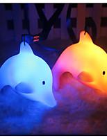Недорогие -Симпатичные красочные светодиодные ночные огни дети подарок игрушка декор день рождения рождественские подарки ночь огни с талрезом дельфин люминесцентный дельфин случайный цвет