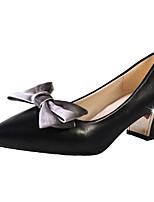 abordables -Femme Chaussures de confort Polyuréthane Eté Chaussures à Talons Talon Bottier Blanc / Noir