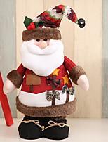 abordables -Décorations de Noël Noël Tissu Carré Nouveautés Décoration de Noël