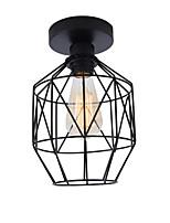 Недорогие -современная промышленная мини-металлическая клетка потолочный светильник ресторан кафе 1-светлый винтажный стиль потолочный светильник