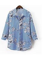 Недорогие -Жен. Рубашка Рубашечный воротник Полоски