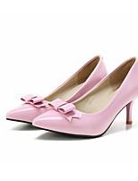 baratos -Mulheres Stiletto Couro Ecológico Outono Saltos Salto Agulha Branco / Verde / Rosa claro