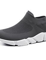Недорогие -Муж. Комфортная обувь Сетка / Эластичная ткань Осень На каждый день Кеды Нескользкий Черный / Серый
