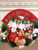 Недорогие -Гирлянды Новогодняя тематика Ткань / пластик Круглый Мультфильм игрушки Рождественские украшения