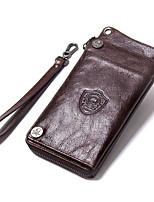 Недорогие -мужские сумки наппа кожаный кошелек застежка-молния кофе