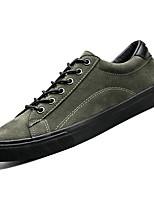 Недорогие -Муж. Комфортная обувь Полиуретан Осень Кеды Черный / Военно-зеленный / Хаки