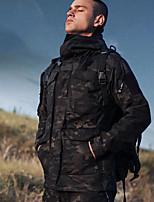 Недорогие -Муж. Куртка для туризма и прогулок на открытом воздухе Осень Весна Зима С защитой от ветра Воздухопроницаемость Пригодно для носки Смесь хлопка и полиэстера Зимняя куртка Односторонняя