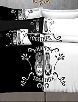 abordables -Ensembles housse de couette Géométrique Polyester Imprimé 3 Pièces / 3 pièces (1 housse de couette, 2 housses d'oreiller)