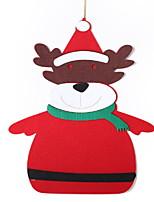baratos -Enfeites de Natal Natal Não-Tecelado Quadrada Desenho Animado Decoração de Natal